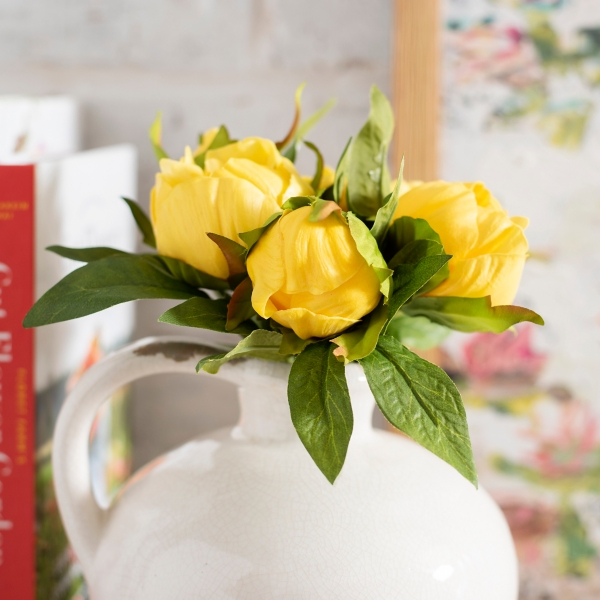 Yellow Peony Bundle Bouquet