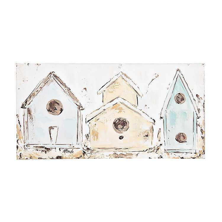 Pastel Birdhouse Canvas Art Print Kirklands