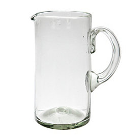 Clear Recycled Glass Pitcher