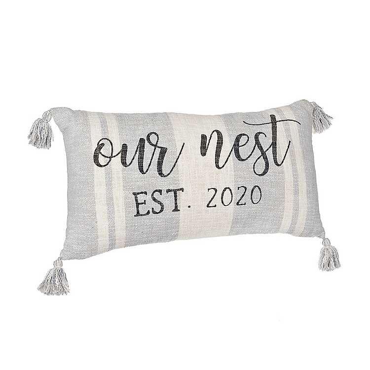 Omari Our Nest 2020 Stripe Accent Pillow Kirklands