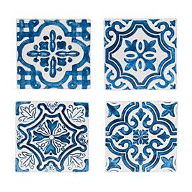 Blue Tile Coasters, Set of 4