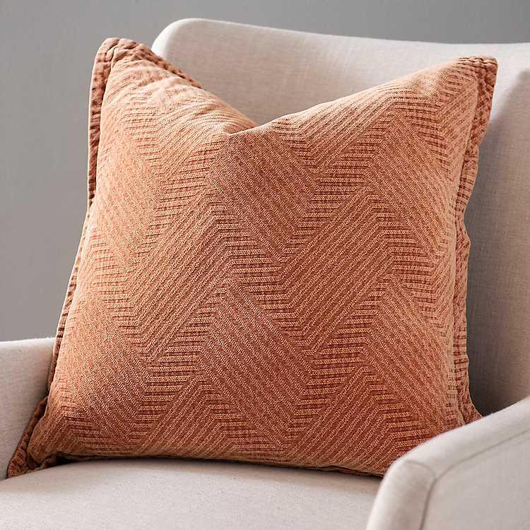 Spice Chenille Jacquard Pillow Kirklands
