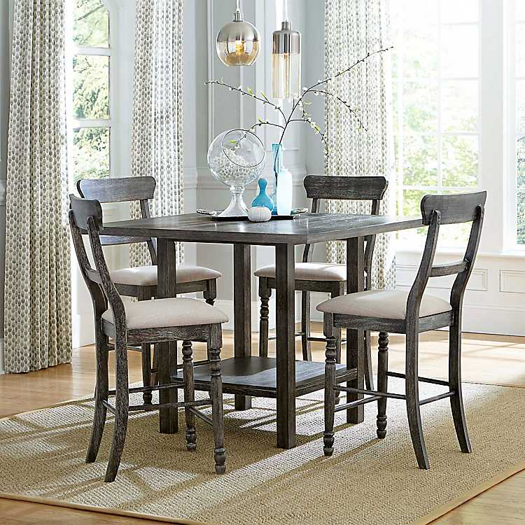 Black Ladder Back Tall Dining Chairs, Tall Dining Room Chairs