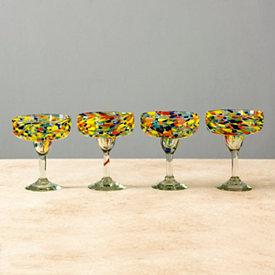 Carnaval Margarita Glasses, Set of 4