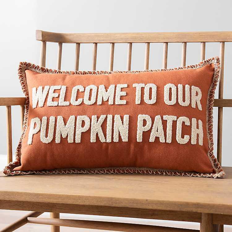 Welcome To Our Pumpkin Patch Accent Pillow Kirklands