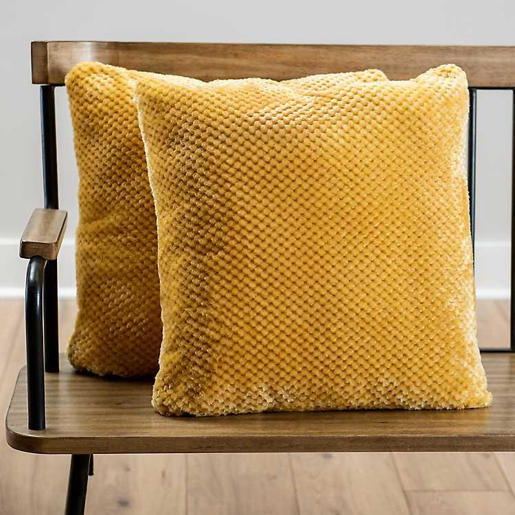 Yellow Heavenly Pillows Set Of 2 Kirklands