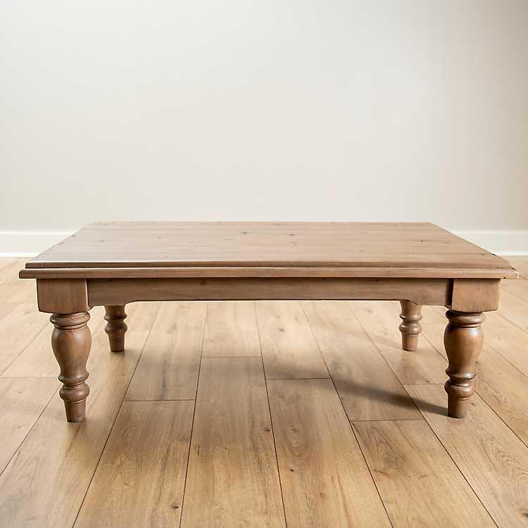 Sundried Ash Reclaimed Wood Coffee Table Kirklands
