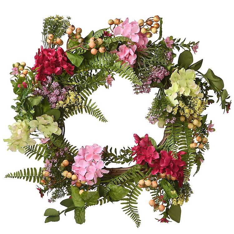Hydrangea And Wildflower Summer Wreath Kirklands