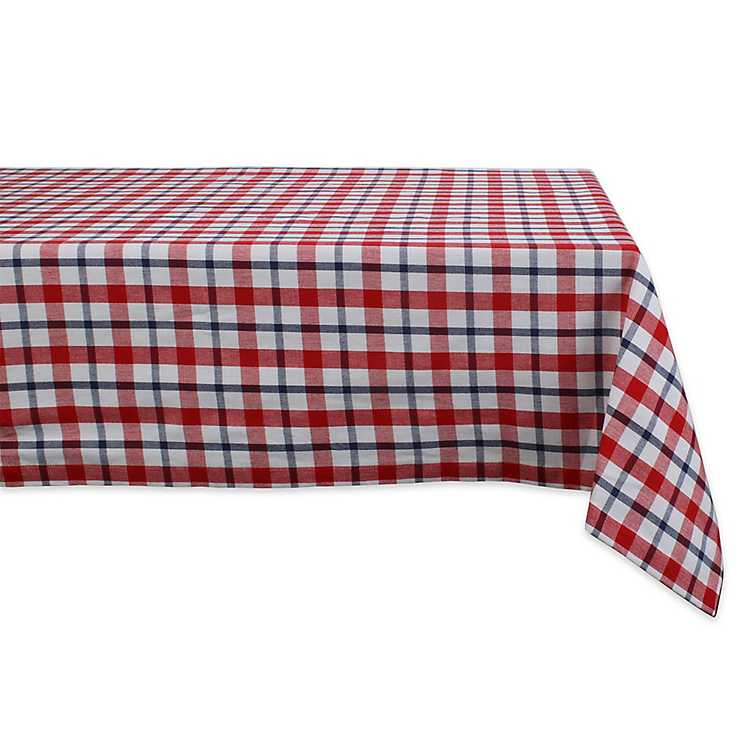 Americana Red And Blue Plaid Table Cloth Kirklands