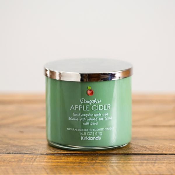 Pumpkin Apple Cider Triple Wick Jar Candle Kirklands