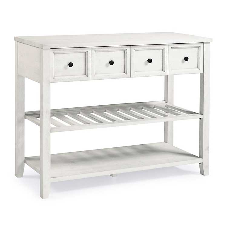 White 2-Drawer Solid Wood Console Table | Kirklands
