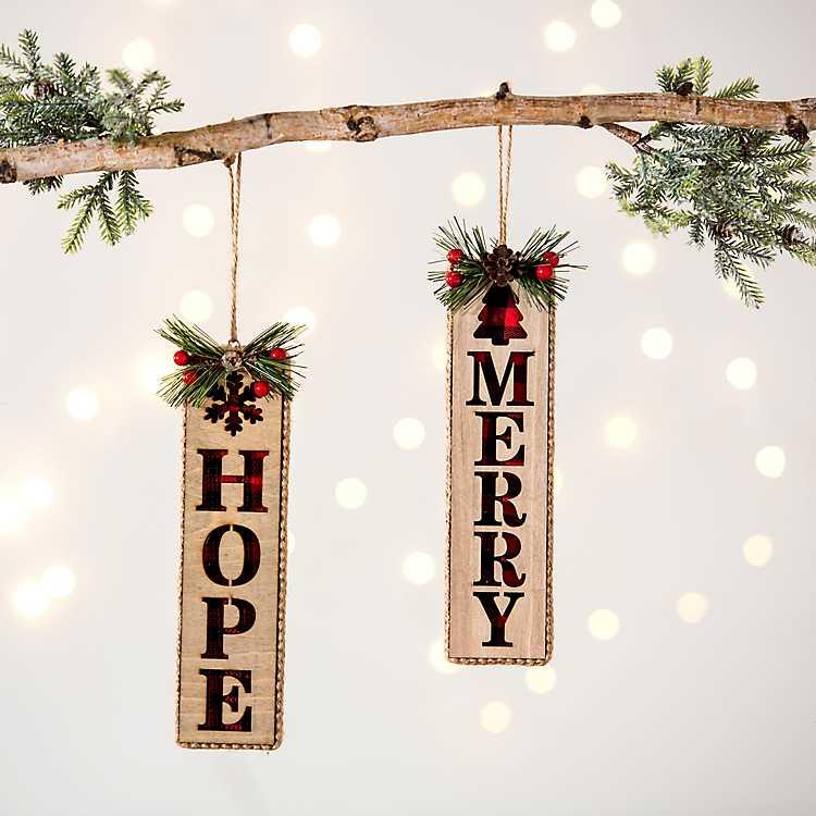 Berries Sentiment Ornaments Set Of 2 Kirklands