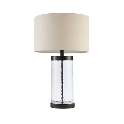 Kirkland Sclear Glass And Bronze Metal Table Lamp Dailymail