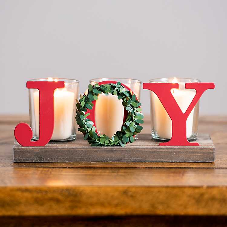 Joy Wreath Votive Candle Holder Kirklands