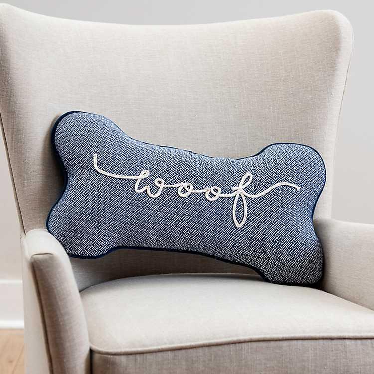 Woof Dog Bone Pillow Kirklands