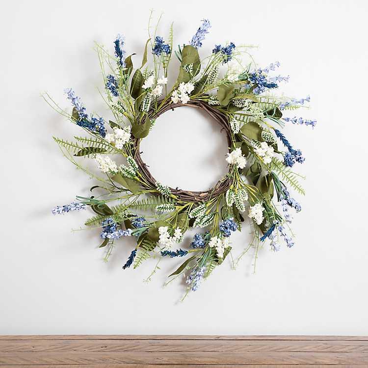 Lavender And Blue Thistle Wreath Kirklands