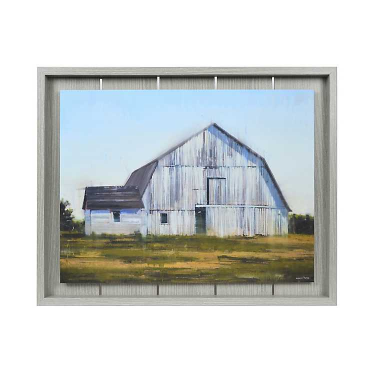 Barn On Plank Framed Art Print Kirklands