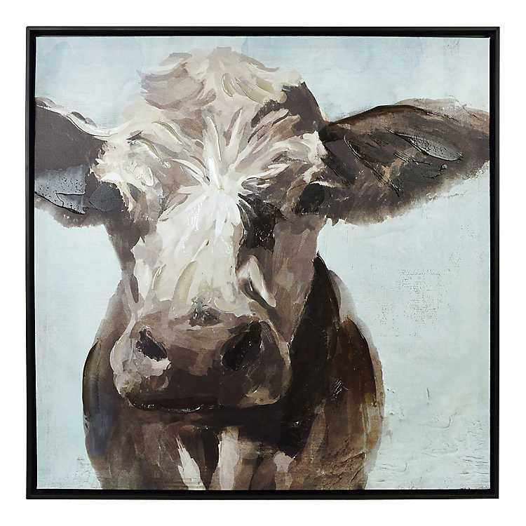 Painted Cow Framed Canvas Art Print Kirklands
