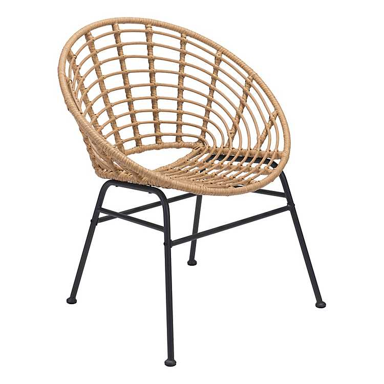 Natural Woven Outdoor Dining Chairs, Patio Furniture Bloomingdale Il