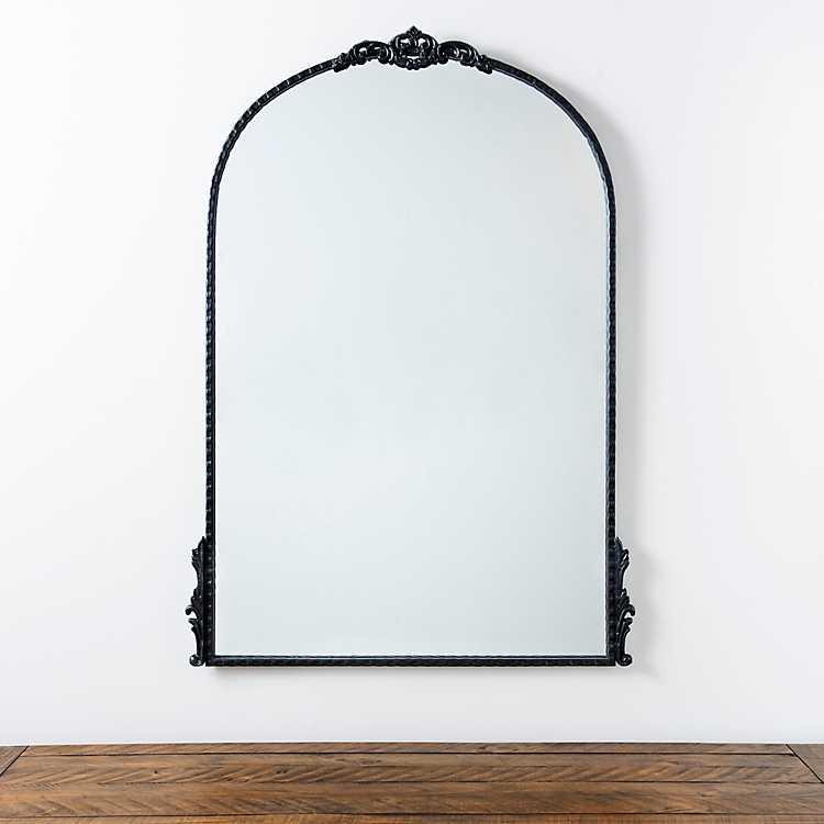 Black Ornate Antique Carved Mirror 25 8x37 In Kirklands