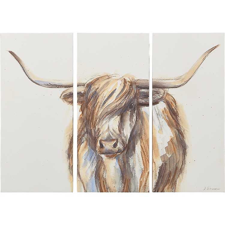 Highland Bull Canvas Art Prints Set Of 3 Kirklands