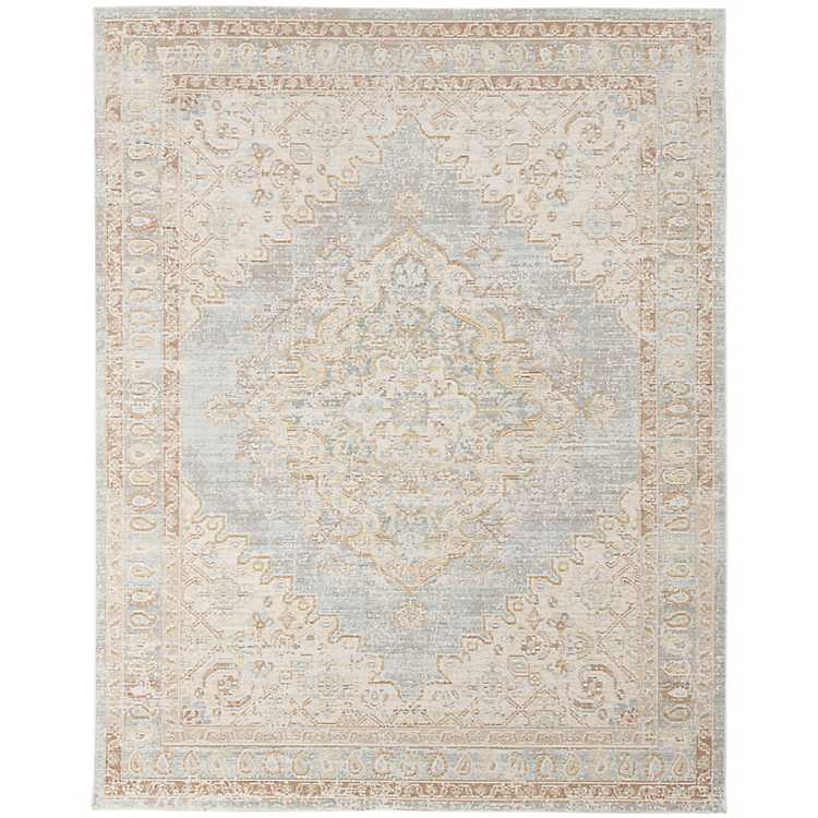 Gray And Beige Vintage Medallion Area Rug 4x6 Kirklands