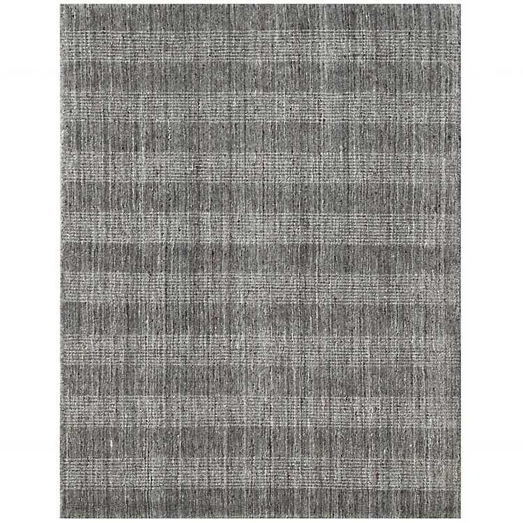 Gray Plaid Hand Woven Wool Blend Area Rug 10x14 Kirklands
