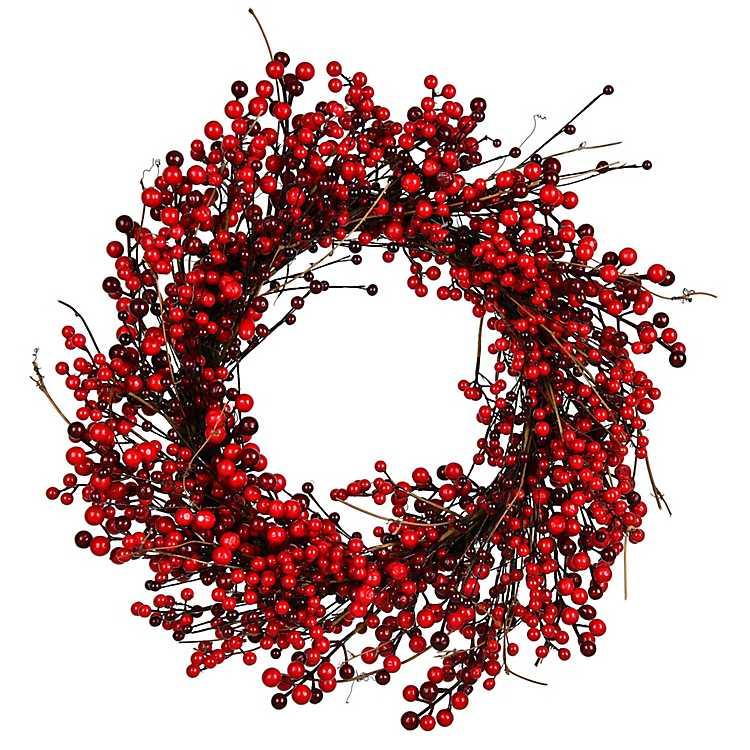 Red Berry Wreath 24 In Kirklands