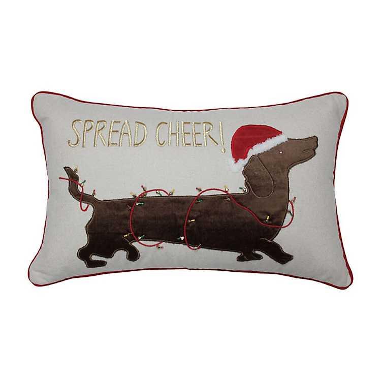 Spread Cheer Dachshund Pillow Kirklands