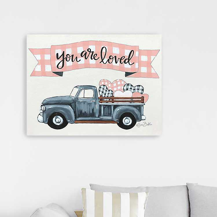 You Are Loved Truck Canvas Art Print Kirklands