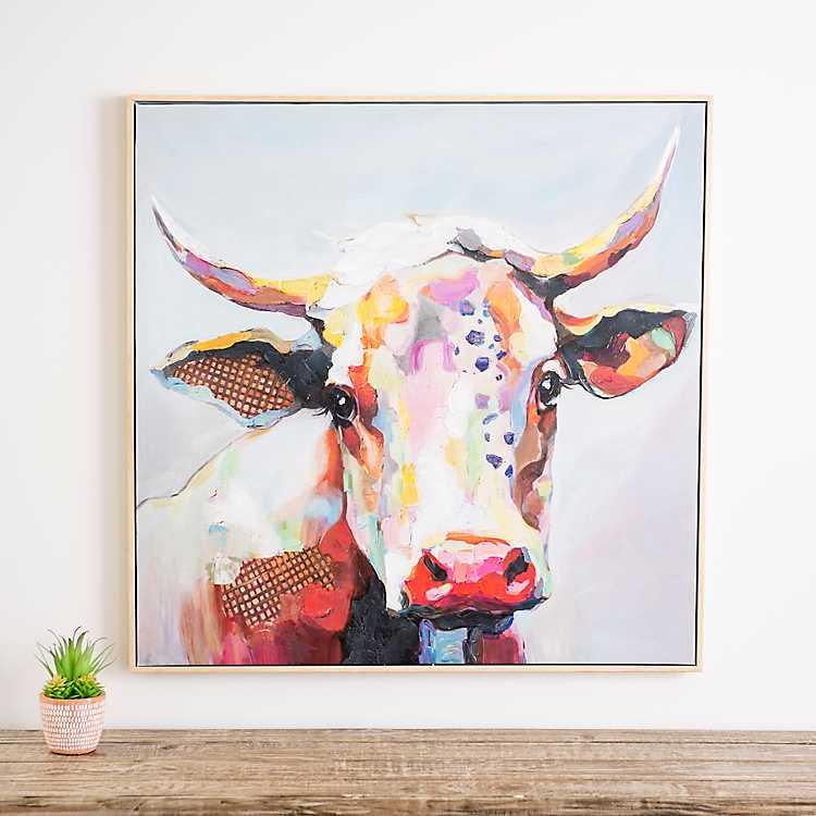 Molly Cow Framed Canvas Art Print Kirklands