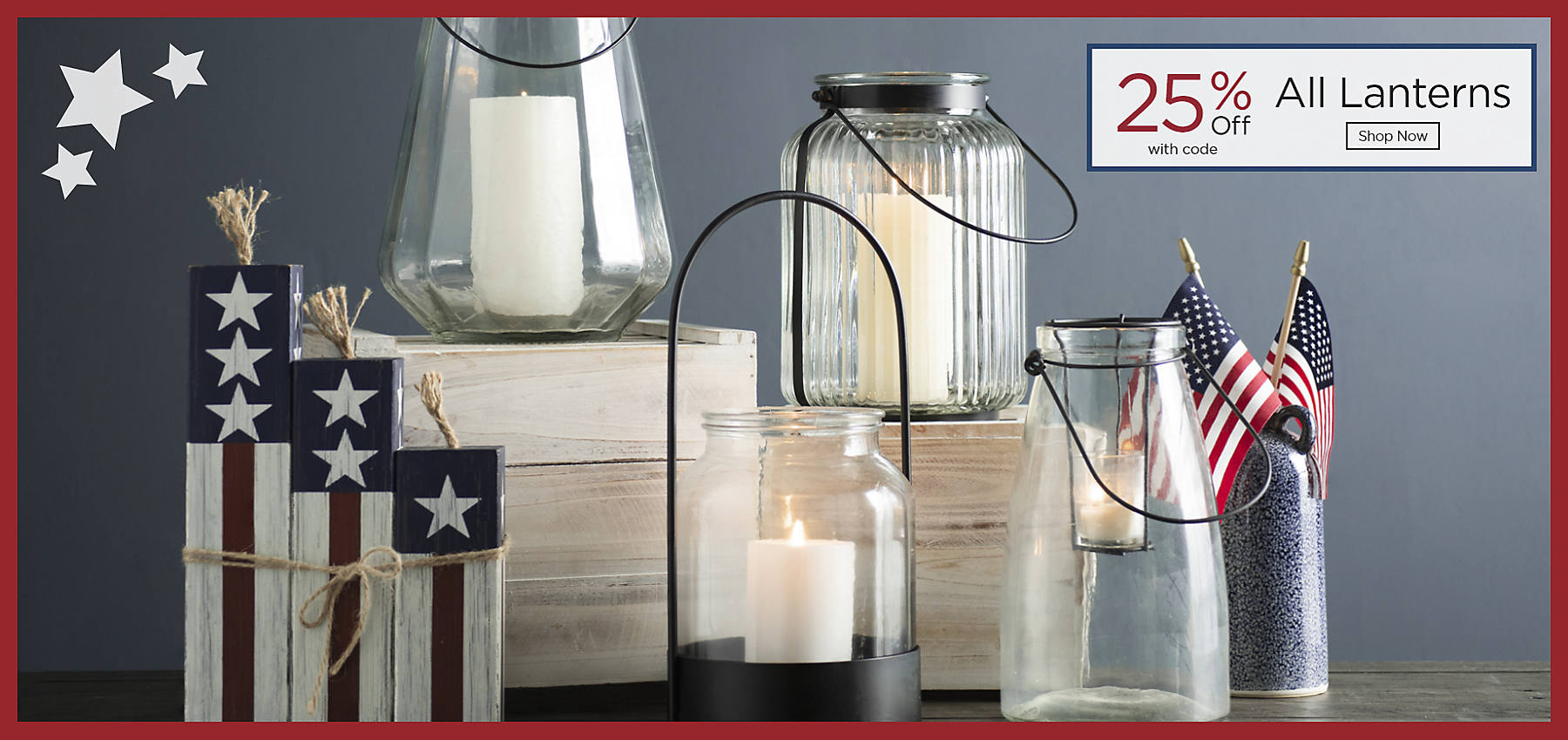 All Lanterns 25% Off with code Shop Now