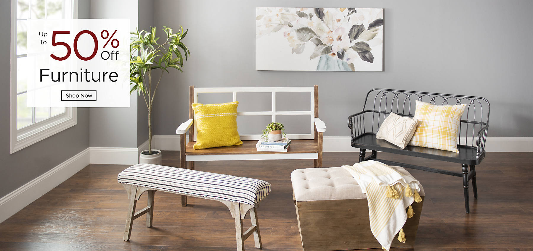 Furniture Up to 50% Off