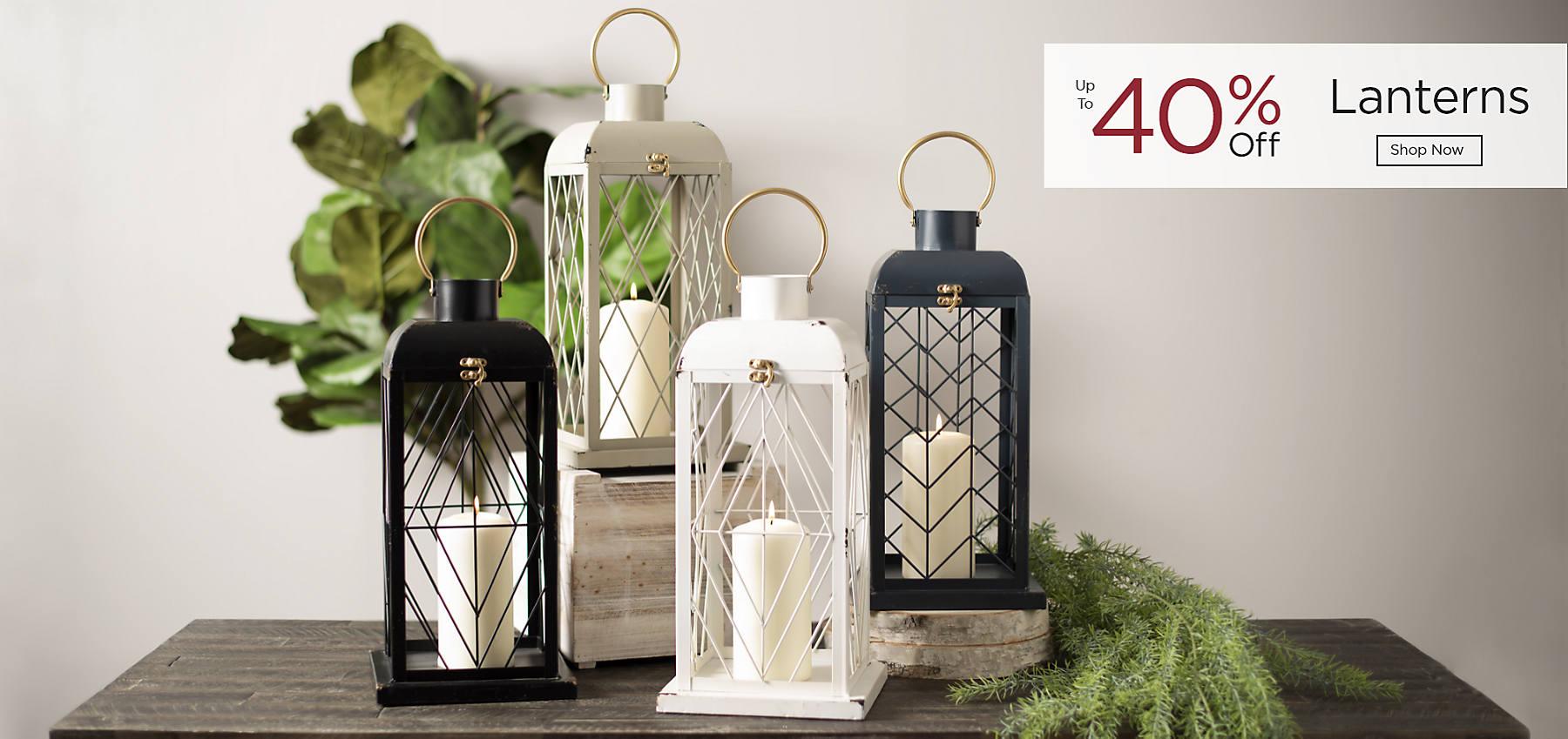 Lanterns Up to 40% Off